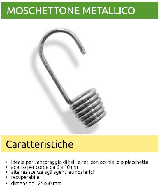Miglior prezzo Pezzi 10 Moschettoni in acciaio zincato -