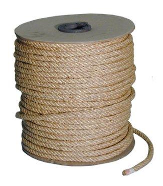 Mt 40 corda treccia fune yuta juta canapa kenaf naturale ritorta diametro 6 mm