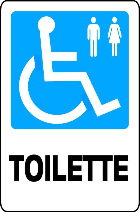 cartello segnaletica aziendale toilette disabili in alluminio mis 16x21 cm