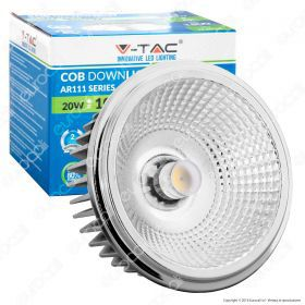LED Spotlight - AR111 20W 230V Beam 20 COB Chip 6000K