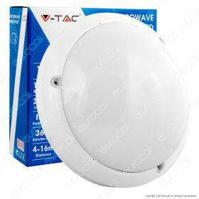 16W Dome LED Light With Sensor Microwave 6000K