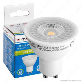 LED Spotlight - 7W GU10 Plastic With Lens 6000K 110°