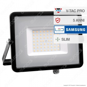 50W LED Floodlight SMD SAMSUNG CHIP Black Body 6400K