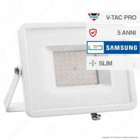 50W LED Floodlight SMD SAMSUNG CHIP White Body 3000K