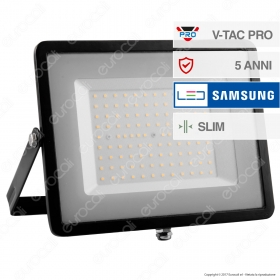 100W LED Floodlight SMD SAMSUNG CHIP Black Body 6400K