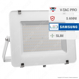 200W LED Floodlight SMD SAMSUNG CHIP White Body 6400K