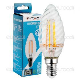 LED Bulb - 4W Filament  E14 Twist Candle 2700K