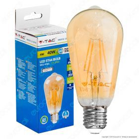 LED Bulb - 4W E27 Filament Amber Cover ST64 2200K