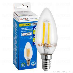 LED Bulb - 4W Filament  E14 Candle 2700K Dimmable