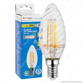 LED Bulb - 4W Filament  E14 Twist Candle 2700K Dimmable