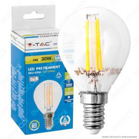 LED Bulb - 4W Filament  E14 P45 2700K Dimmable