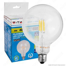 LED Bulb - 4W Filament  E27 G125 2700K Dimmable