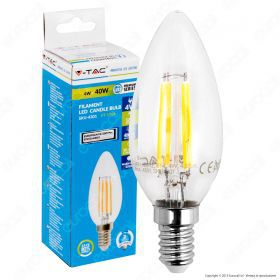 LED Bulb - 4W Filament  E14 Candle 6000K