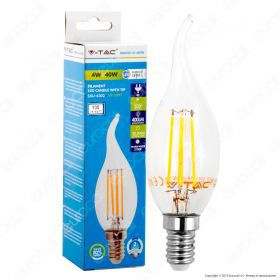 LED Bulb - 4W Filament  E14 Candle Tail 6000K