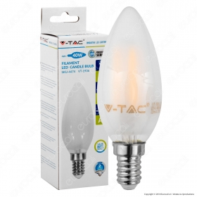 LED Bulb - 4W Filament  E14 Frost Cover Candle 4000K