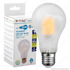 LED Bulb - 8W Filament E27 A67 Frost Cover 6400K