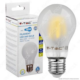 LED Bulb - 4W Filament E27 A60 Frost Cover 4000K