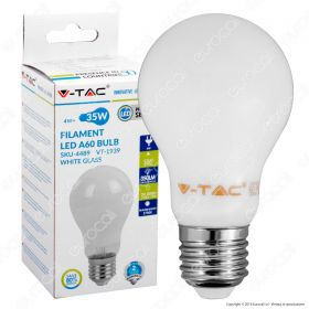 LED Bulb - 4W Filament E27 A60 White Cover 2700K