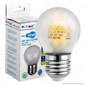 LED Bulb - 4W Filament  E27 G45 Frost Cover 2700K