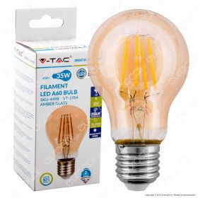 LED Bulb - 4W E27 Filament Amber Cover 2200K