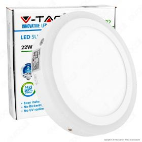 18W+3W LED Surface Panel Downlight - Round 4500K                          EMC+CR80