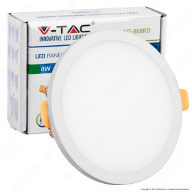 8W LED Frameless Panel Light Round 3000K