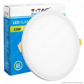 15W LED Frameless Panel Light Round 6000K