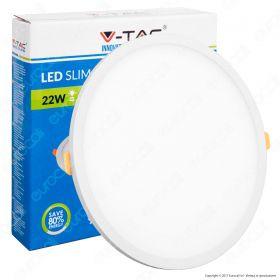 22W LED Frameless Panel Light Round 6000K