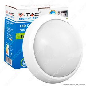 8W Dome Light Round White Body 3000K IP66