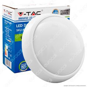 12W Dome Light Fitting White Body Round 4500K IP65