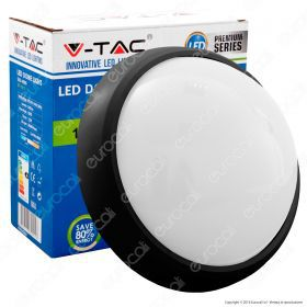 12W Dome Light Fitting Black Body Round 4500K IP65