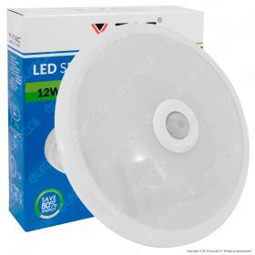 12W Dome Light With Sensor 4500K