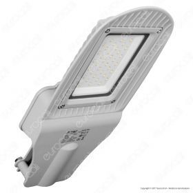 30W SMD Street Lamp Grey Body Grey Glass 6000K