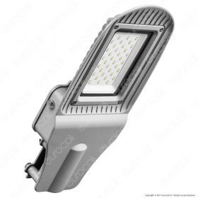 30W SMD Street Lamp With Photo Cell Sensor Grey Body 6400K