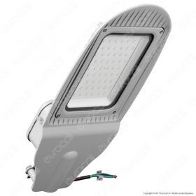 50W SMD Street Lamp With Photo Cell Sensor Grey Body 4000K