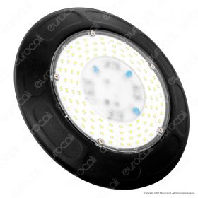 100W LED High Bay UFO Black Body  4500K