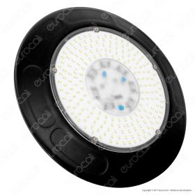 150W LED High Bay UFO Black Body  6000K