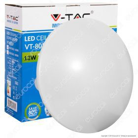 12W Dome Light Ceiling Surface Round 6500K