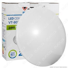 24W Dome Light Ceiling Surface Round 6500K