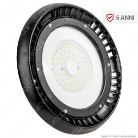 100W LED High Bay UFO A++ Meanwell  4000K 5 Year Warranty 120°