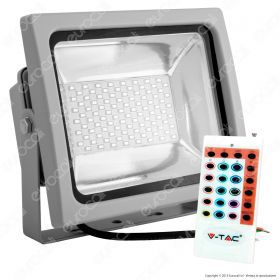 50W LED Floodlight RGB With RF Remote Grey Body SMD