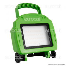 20W LED Rechargable Floodlight Green Body SMD 4000K