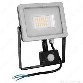 20W LED Sensor Floodlight Black Body SMD 6000K
