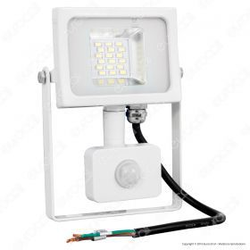 10W LED SMD Floodlight Sensor White Body 3000K
