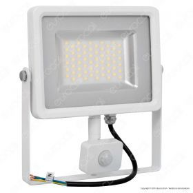 50W LED SMD Floodlight Sensor White Body 4500K