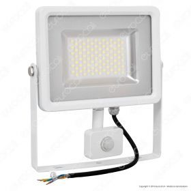 50W LED SMD Floodlight Sensor White Body 6000K