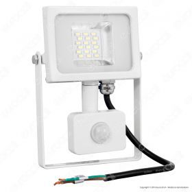 20W LED SMD Floodlight Sensor White Body 3000K