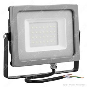 30W LED Floodlight Black/Grey Body SMD 4000K