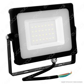30W LED Floodlight Black Body SMD 6400K