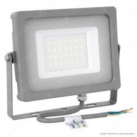 30W LED Floodlight Grey Body SMD 4000K